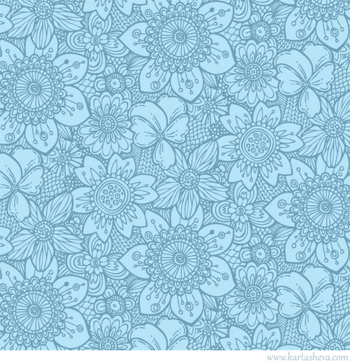 blue floral pattern design